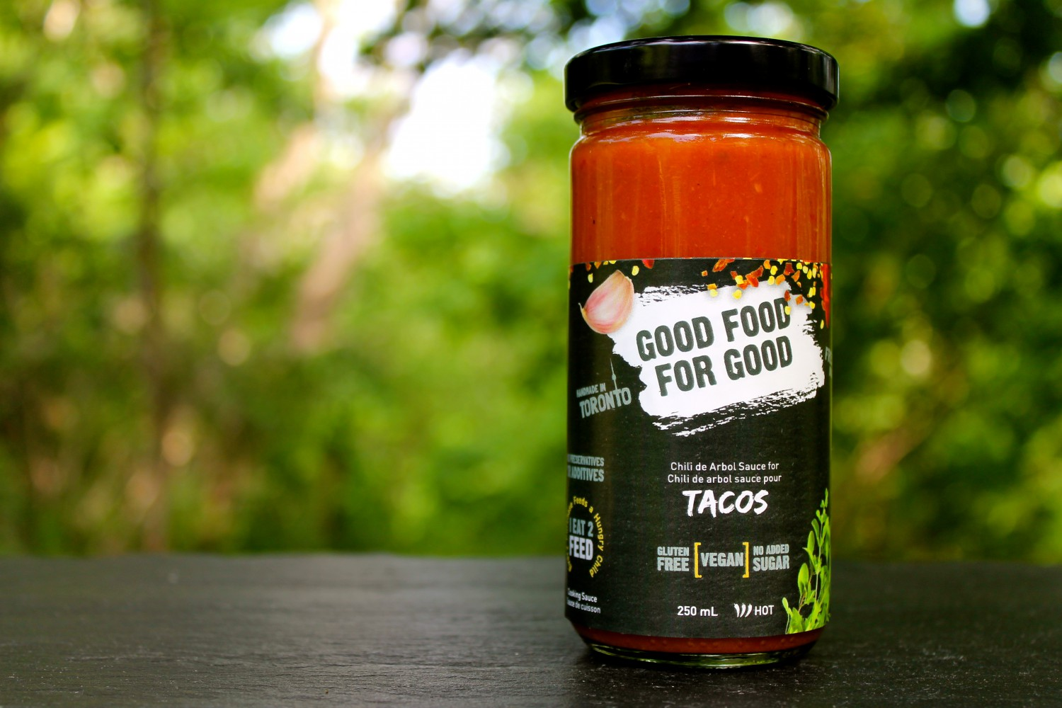 GOOD FOOD FOR GOOD Chile de Arbol Taco Sauce - Fresh Mexican Sauce