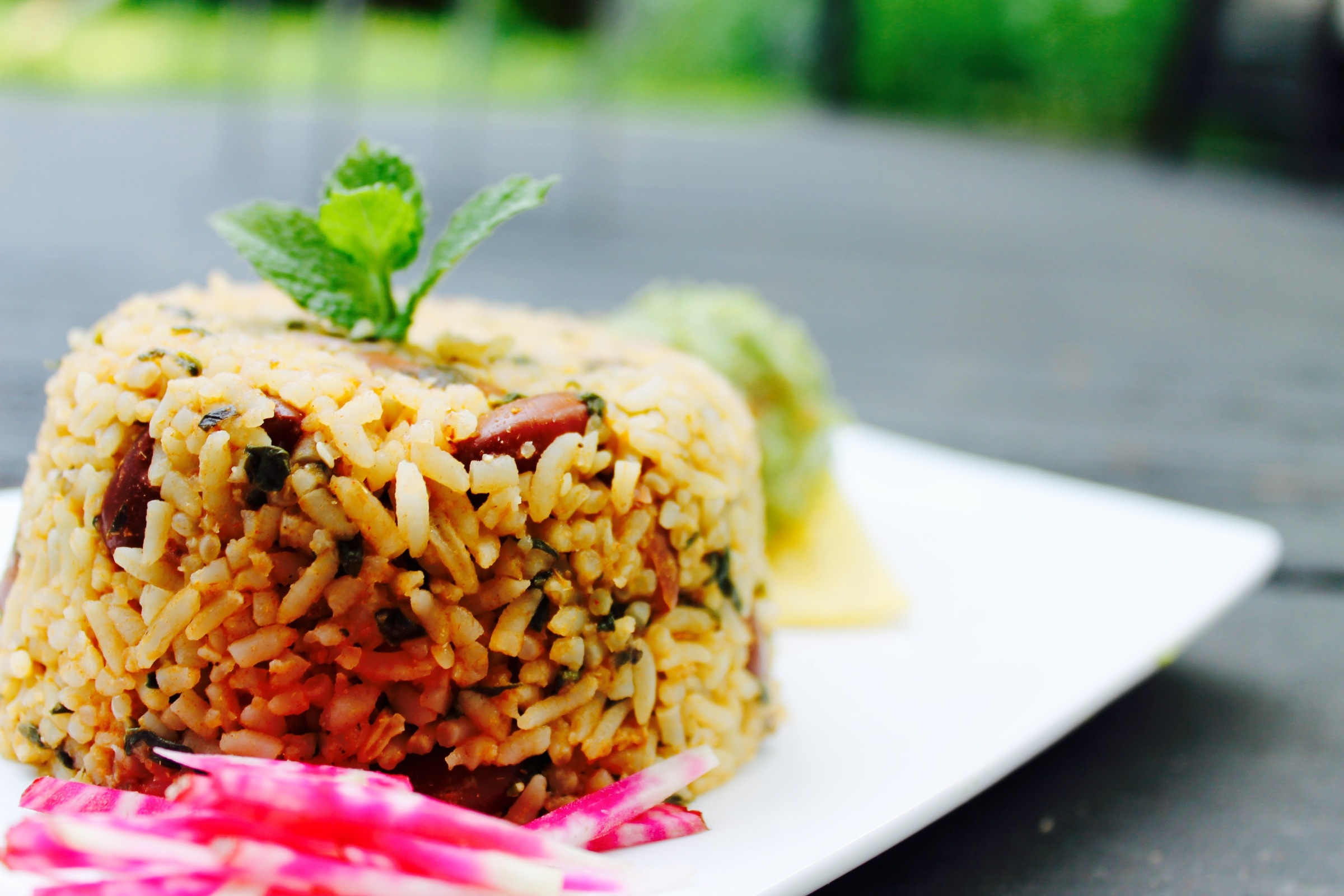 Rice and Beans with Ancho Enchilada sauce | Good Food for Good