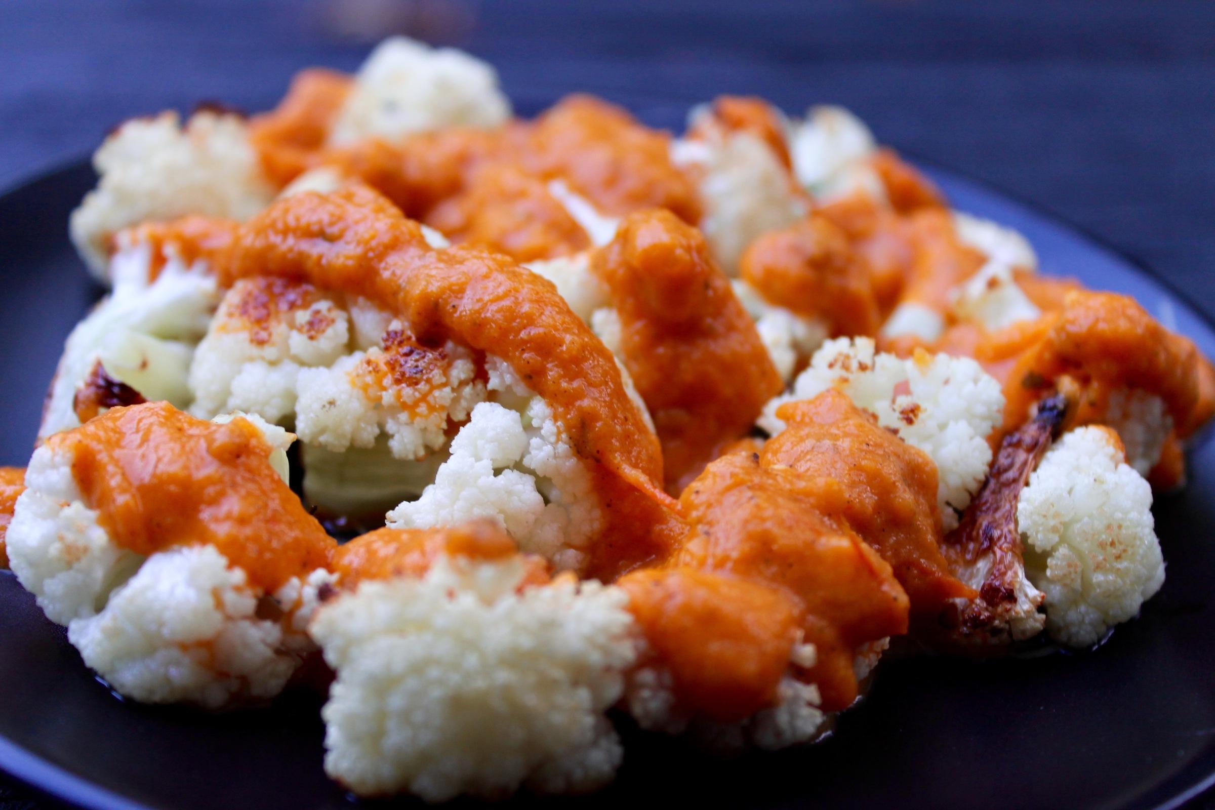 Saucy Roasted Cauliflower | Vegan Butter Chicken cauliflower